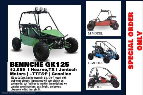 """2020 BENNCHE GK125 """"G"""" or """"T"""" Model for sale at JENTSCH MOTORS in Hearne TX"""