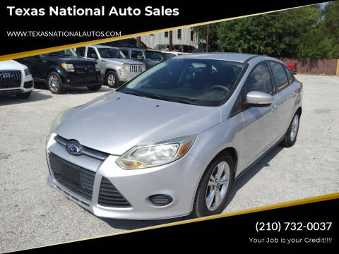 2014 Ford Focus for sale at Texas National Auto Sales in San Antonio TX