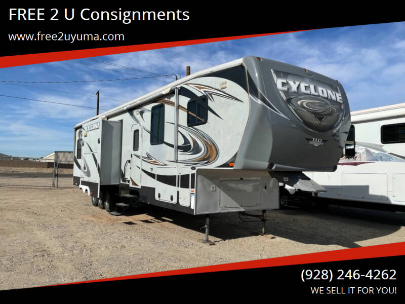 2012 Heartland Cyclone for sale at FREE 2 U Consignments in Yuma AZ