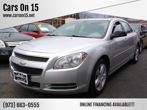 2009 Chevrolet Malibu for sale at Cars On 15 in Lake Hopatcong NJ