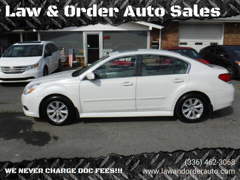 2012 Subaru Legacy for sale at Law & Order Auto Sales in Pilot Mountain NC