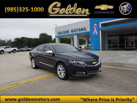 2014 Chevrolet Impala for sale at GOLDEN MOTORS in Cut Off LA