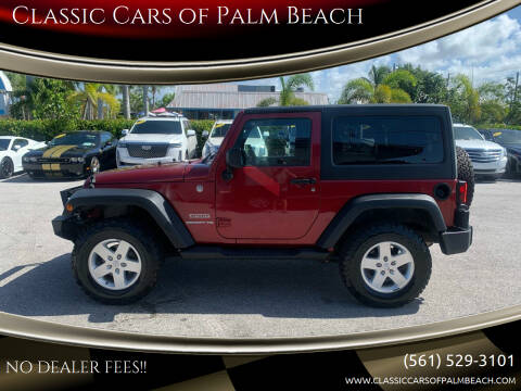 2012 Jeep Wrangler for sale at Classic Cars of Palm Beach in Jupiter FL
