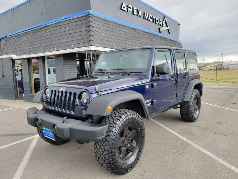 2013 Jeep Wrangler Unlimited for sale at Apex Motors in Murray UT