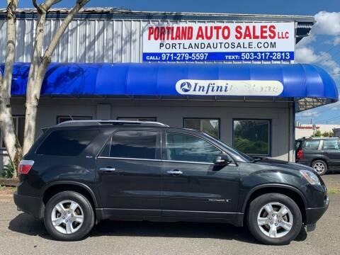2008 GMC Acadia for sale at PORTLAND AUTO SALES LLC. in Portland OR