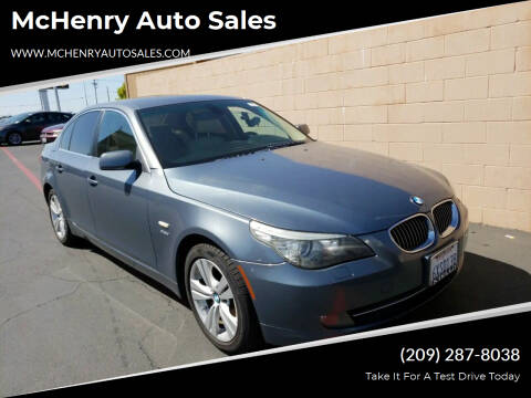 2009 BMW 5 Series for sale at MCHENRY AUTO SALES in Modesto CA
