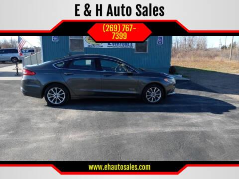 2018 Ford Fusion Energi for sale at E & H Auto Sales in South Haven MI