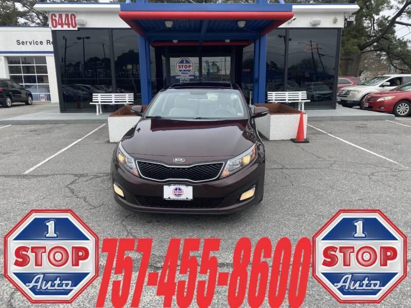 2015 Kia Optima for sale at 1 Stop Auto in Norfolk VA