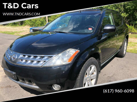 2006 Nissan Murano for sale at T&D Cars in Holbrook MA