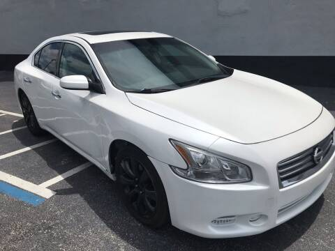 2014 Nissan Maxima for sale at CARSTRADA in Hollywood FL
