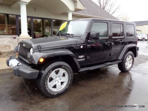 2010 Jeep Wrangler Unlimited for sale at DEALS UNLIMITED INC in Portage MI