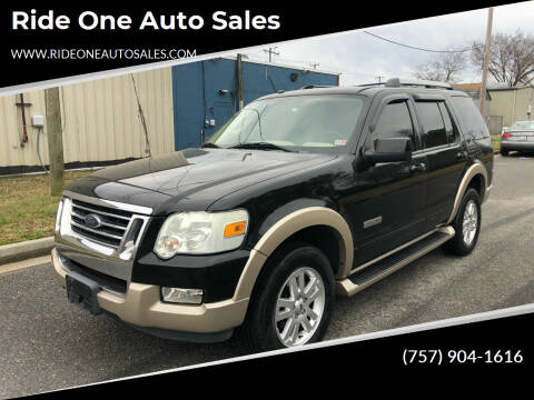 2006 Ford Explorer for sale at Ride One Auto Sales in Norfolk VA