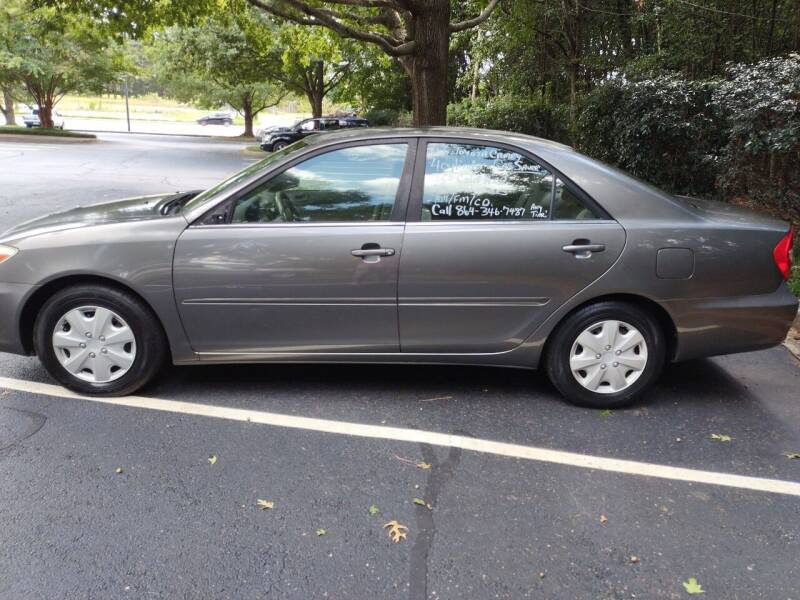 2003 Toyota Camry for sale at Wheels To Go Auto Sales in Greenville SC
