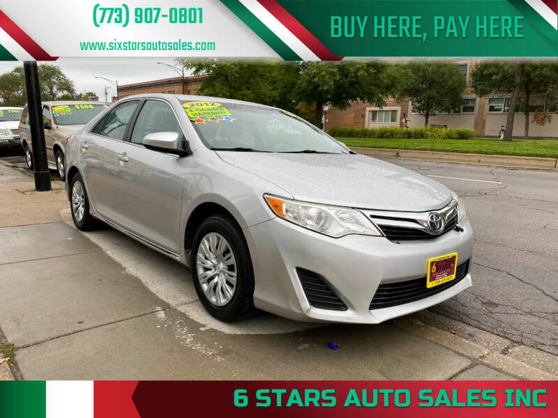2012 Toyota Camry for sale at 6 STARS AUTO SALES INC in Chicago IL