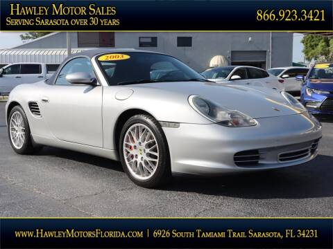 2003 Porsche Boxster for sale at Hawley Motor Sales in Sarasota FL