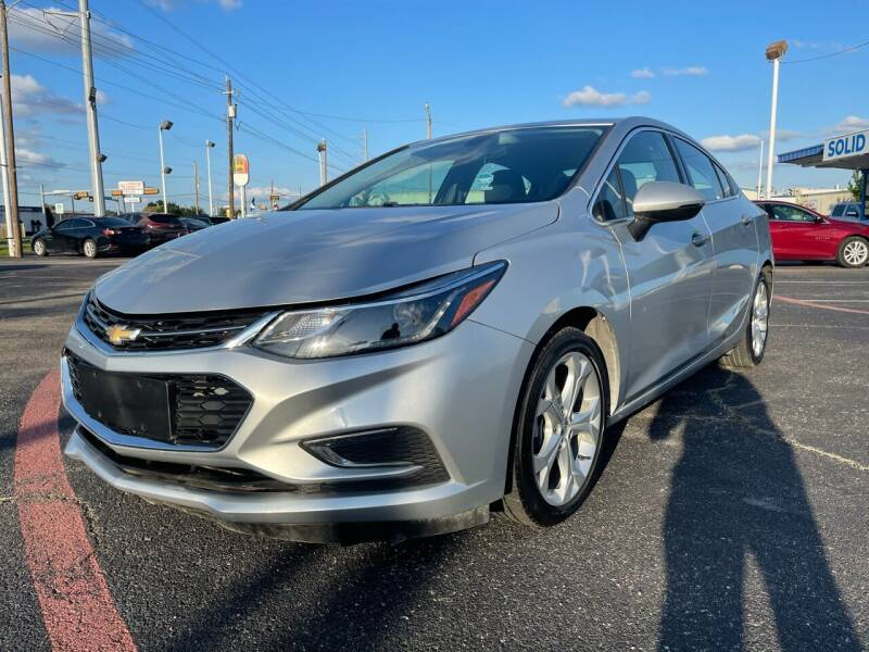 2017 Chevrolet Cruze for sale at SOLID MOTORS LLC in Garland TX