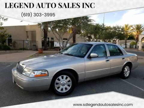 2004 Mercury Grand Marquis for sale at Legend Auto Sales Inc in Lemon Grove CA
