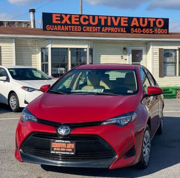2019 Toyota Corolla for sale at Executive Auto in Winchester VA
