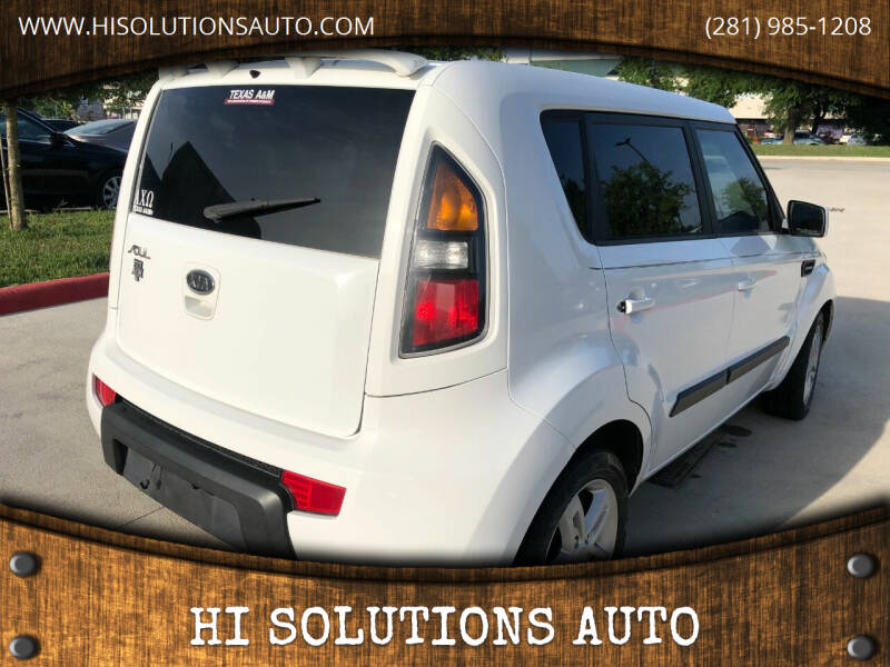 2011 Kia Soul for sale at HI SOLUTIONS AUTO in Houston TX