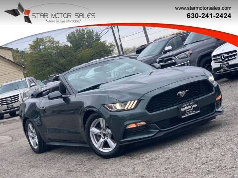 2016 Ford Mustang for sale at Star Motor Sales in Downers Grove IL