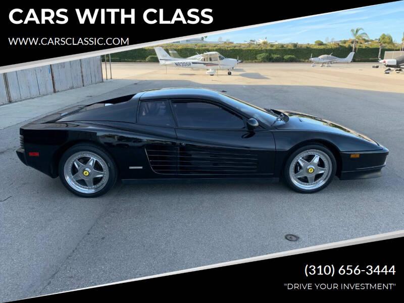 1988 Ferrari Testarossa for sale at CARS WITH CLASS in Santa Monica CA