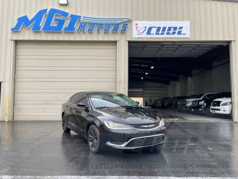 2015 Chrysler 200 for sale at MGI Motors in Sacramento CA