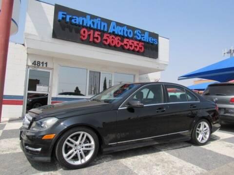 2013 Mercedes-Benz C-Class for sale at Franklin Auto Sales in El Paso TX