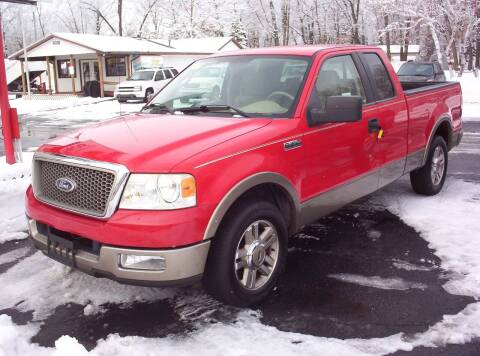 2005 Ford F-150 for sale at LAKESIDE MOTORS LLC in Houghton Lake MI