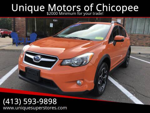2015 Subaru XV Crosstrek for sale at Unique Motors of Chicopee in Chicopee MA
