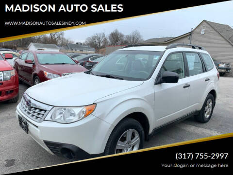 2013 Subaru Forester for sale at MADISON AUTO SALES in Indianapolis IN