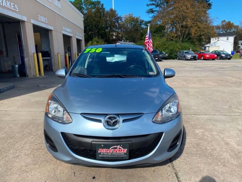 2013 Mazda MAZDA2 for sale at Ridetime Auto in Suffolk VA