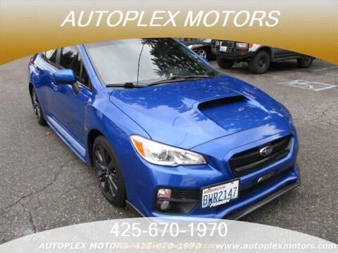 2015 Subaru WRX for sale at Autoplex Motors in Lynnwood WA
