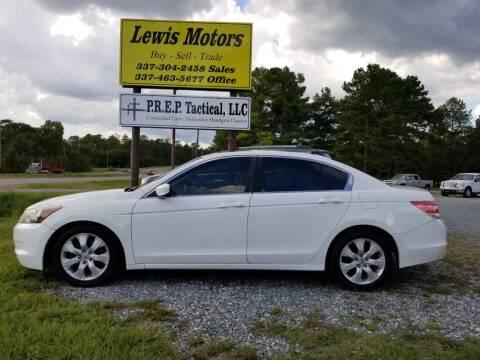 2008 Honda Accord for sale at Lewis Motors LLC in Deridder LA