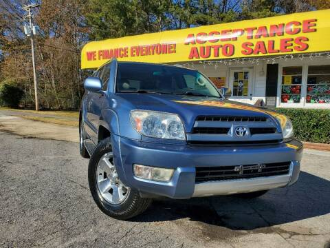 2003 Toyota 4Runner for sale at Acceptance Auto Sales in Marietta GA