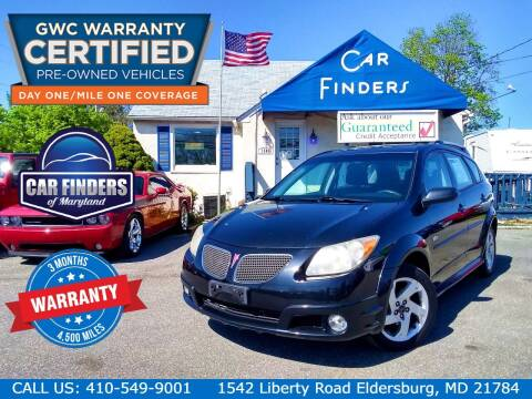 2007 Pontiac Vibe for sale at CAR FINDERS OF MARYLAND LLC - Certified Cars in Eldersburg MD