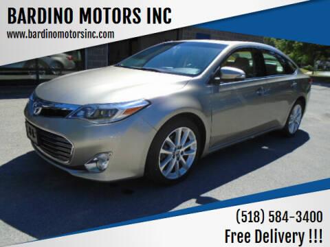 2013 Toyota Avalon for sale at BARDINO MOTORS INC in Saratoga Springs NY