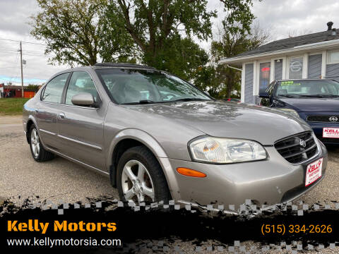 2001 Nissan Maxima for sale at Kelly Motors in Johnston IA