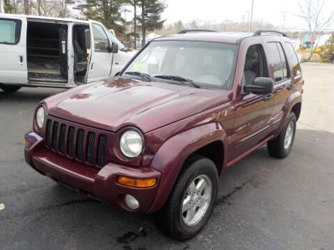 2002 Jeep Liberty for sale at RTE 123 Village Auto Sales Inc. in Attleboro MA