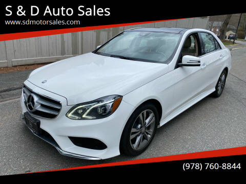 2016 Mercedes-Benz E-Class for sale at S & D Auto Sales in Maynard MA
