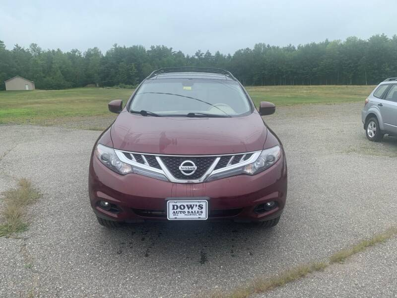 2012 Nissan Murano for sale at DOW'S AUTO SALES in Palmyra ME