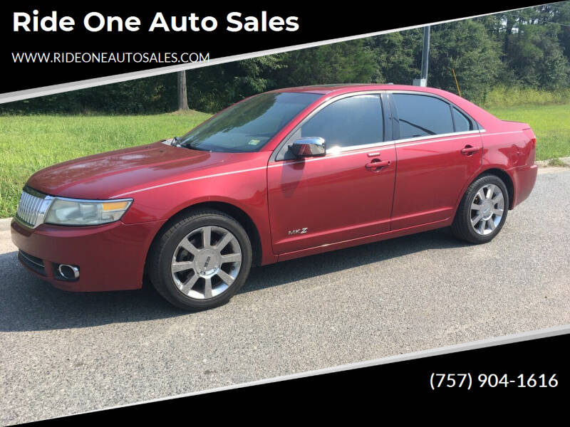 2008 Lincoln MKZ for sale at Ride One Auto Sales in Norfolk VA