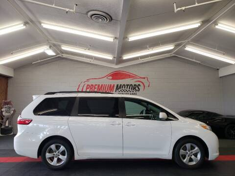 2015 Toyota Sienna for sale at Premium Motors in Villa Park IL