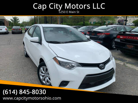2015 Toyota Corolla for sale at Cap City Motors LLC in Columbus OH