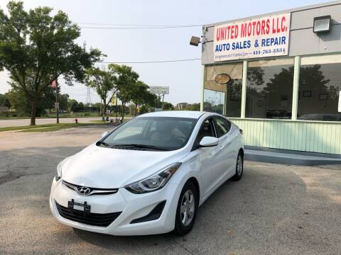 2015 Hyundai Elantra for sale at United Motors LLC in Saint Francis WI