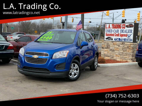 2015 Chevrolet Trax for sale at L.A. Trading Co. in Woodhaven MI