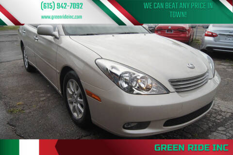 2003 Lexus ES 300 for sale at Green Ride Inc in Nashville TN