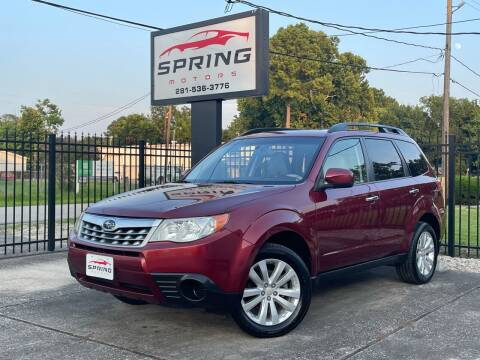 2012 Subaru Forester for sale at Spring Motors in Spring TX