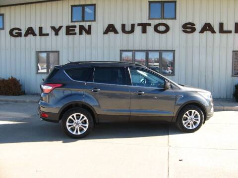 2018 Ford Escape for sale at Galyen Auto Sales Inc. in Atkinson NE