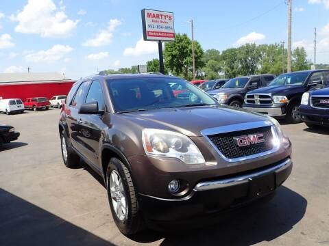 2012 GMC Acadia for sale at Marty's Auto Sales in Savage MN
