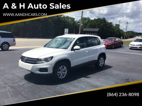 2012 Volkswagen Tiguan for sale at A & H Auto Sales in Greenville SC